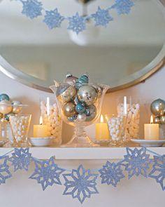 #DIY Tutorial: glittered snowflake garland