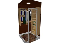 Walk-in closet designed using software Walk In Closet Design, Interior Design Software, Lockers, Locker Storage, Cabinet, Furniture, Home Decor, Clothes Stand, Homemade Home Decor