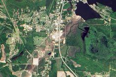 Tornado Damage in Mayflower, Arkansas : Image of the Day : NASA Earth Observatory