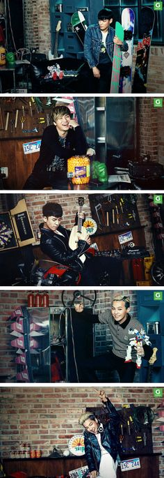 TOP, G-Dragon ,Daesung ,Seungri , and Taeyang ♕ #BIGBANG // Gmarket 'Christmas Wish List' CFs 2013