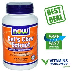 Now Foods, Cat's Claw Extract, Immune System Support, Uña de Gato, 120 Vcaps #NOWFoods