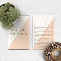 A chic, modern business card template now in store. Download and edit yourself - both Illustrator and Photoshop templates included.