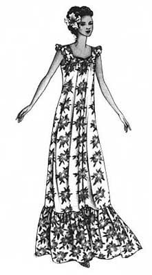 Hawaiian Mu'umu'u #105 - Patterns - Hawaii Crafts and Fabrics