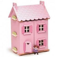 Le Toy Van dreamhouse. Dit gezellige, houten poppenhuis is een nieuwe aanwinst voor jouw poppenhuispoppen!