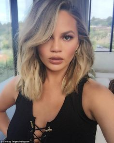 Gratitude: Chrissy shared this selfie on Instagram, referring to Khloe Kardashian as a 'dream host,' and thanked her for 'having @johnlegend and I' on her show