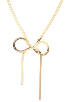Collier métal noeud Doré Molly Bracken sur MonShowroom.com