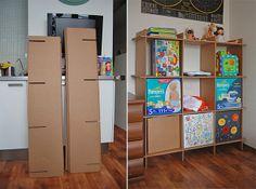 Cardboard shelves, via Flickr