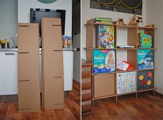 Cardboard shelves_003 by playandgrow, via Flickr