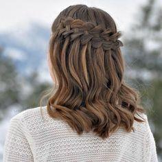 Waterfall Braid Medium Length   My Favorite Medium Length Hairstyles of 2016