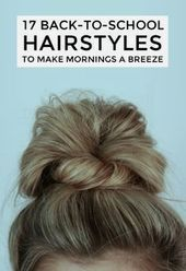 School's back in session and that means waking up to an alarm and the fleeting desire to perhaps comb your hair and put on a fresh outfit before heading out to class. It's tough. Check out these quick and easy 'dos t School Looks, Hair Dos, Hair Hacks, Girl Hairstyles, Hairstyles To Sleep In, Trendy Hairstyles, Easy College Hairstyles, Easy Hairstyles Thin Hair, Easy Morning Hairstyles
