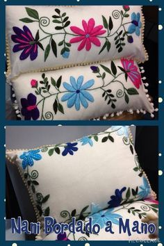 Marvelous Crewel Embroidery Long Short Soft Shading In Colors Ideas. Enchanting Crewel Embroidery Long Short Soft Shading In Colors Ideas. Embroidery Needles, Crewel Embroidery, Hand Embroidery Patterns, Ribbon Embroidery, Mexican Embroidery, Seed Stitch, Handicraft, Needlework, Decorative Pillows