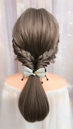 Easy Hairstyles For Long Hair, Braids For Long Hair, Cute Hairstyles, Braided Hairstyles, Beautiful Hairstyles, School Hairstyles, Videos Of Hairstyles, Wedding Hairstyles, Brown Hairstyles