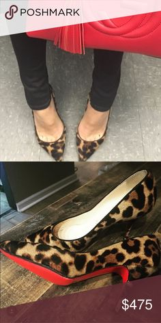 Louboutin Piou Piou Calf Hair Pump Gorgeous calf hair 85mm pump by Louboutin.  Authentic.  Size 35.5 but fit like a 36. Christian Louboutin Shoes Heels