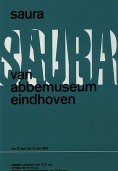 by Wim Crouwel – 1963 Typo Design, Typographic Design, Graphic Design Posters, International Typographic Style, Canvas Art, Canvas Prints, Swiss Design, Eindhoven, Reference Images