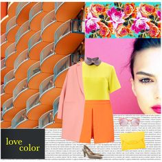 she's in love w/color ❤️ on Polyvore