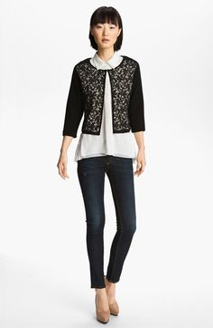 Mcginn Lace Front Cardigan available at #Nordstrom