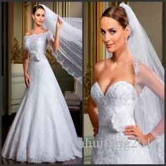 2016 Hot Sale A-Line Wedding Dresses Tulle With Appliques Lace Floor Length Court Train Strapless Neck Zipper Bridal Formal Occasion Dresses A-Line Wedding Dresses Strapless Neck Dresses Bridal Gowns Online with $195.42/Piece on Yahuifang2016's Store | DHgate.com
