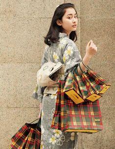 new kimono style. とても美しいとは思えないが、着物を生活に取り入れるというのはよいことと思ふ。