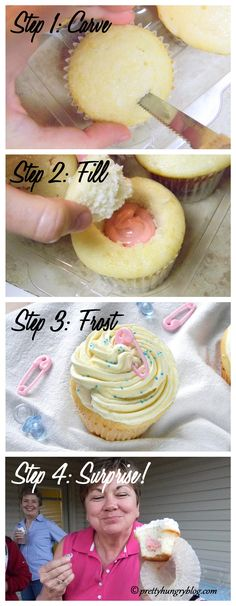 Gender Reveal Cupcakes Tutorial!  #babyshowers #genderreveal #cupcakes