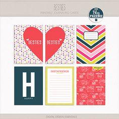 Quality DigiScrap Freebies: Besties journal cards freebie from Digital Designs Essentials