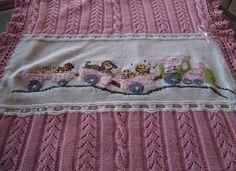 schemi maglia per copertine - Copertina per neonati con disegno