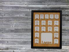 11x14 Personalized School Years Newborn to 18 Picture Frame, Birth thru 12th Grade Photo Frame