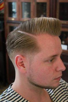 Pomp slickd side part- Super popular Mens Cut!!