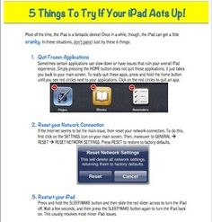 5 Things to Try When your iPad Acts Up