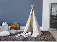 Ideas and inspiration Room Colors, Wall Colors, Colours, Blue Bedroom, Kids Bedroom, Jotun Paint, Jotun Lady, Kids Castle, Kids Room Paint