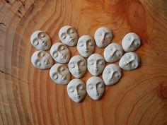 Semi-Precious Stones – Ceramic face - normal – a unique product by Efraim_jewellery on DaWanda