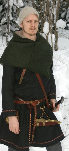 Winter Viking by *VendelRus on deviantART -- This gentleman and his good wife are re-enactors.  The pictures of his daughter in her garb are especially cute.