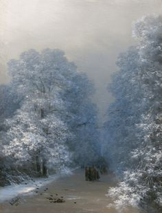 """Winter Landscape"", 1876, Ivan Aivazovsky."