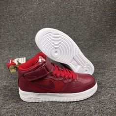 f93a6e1e2a0d Mens Womens Sneakers Nike Air Force 1 Mid LV8 Team Red Summit White Gym Red  820342