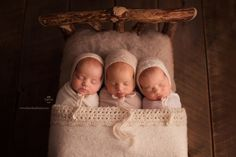 Pictures of Baby Redhead Triplets Goes Viral [Credit: Hazel&Cass Photography] Triplets Photography, Baby Girl Photography, Newborn Photography Props, Newborn Session, Twin Baby Photos, Newborn Pictures, Baby Pictures, Twin Babies, Cute Babies