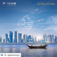#Repost @qatarairways  هداتنا يفرح بها كل مغبون . . . Happy #Qatar National Day!  #Doha #QND2015  #الدوحة #قطر #اليوم_الوطني #الأدعم