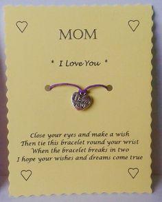 Wish Bracelet Mom gift Mom bracelet Charm bracelet by GemsNJewells
