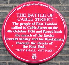 In late autumn an event took place in Cable Street, a road leading from Leman Street in the East End of London, between Mosley's Blackshirts and Vintage London, Old London, East London, London History, British History, English Countryside, British Isles, Family History, Great Britain