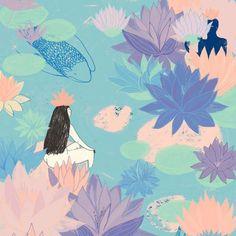 Dreamy illustration by Mexican Artist Silvana Ávila