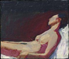 Richard Diebenkorn Reclining Nude(1958),  oil on canvas.