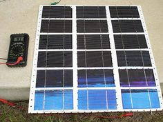 How to Make Inexpensive DIY Home-Built Solar Panels with Damaged Solar Cells from Ebay : TreeHugger