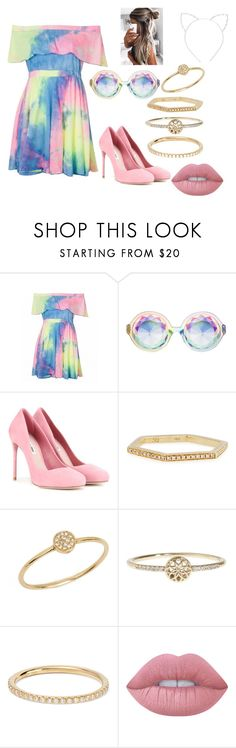 """""""Untitled #20"""" by west101-1 on Polyvore featuring beauty, Miu Miu, Sydney Evan, Anine Bing, Lucky Brand, Ileana Makri, Lime Crime and Cara"""