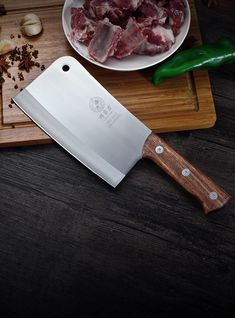 DENG Chinese Blade Handmade Forged Stainless Steel Kitchen Chopper Knife Household Meat Cleaver Knife For Chicken And Fish Bone-in Kitchen Knives from Home & Garden on AliExpress Cleaver Knife, Chicken Kitchen, Butcher Knife, Cheap Kitchen, Stainless Steel Kitchen, Blacksmithing, Kitchen Knives, Chopper, Blade