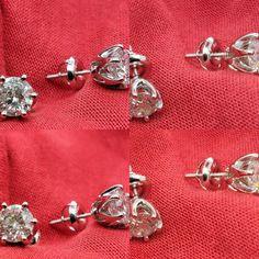 #jewelry #earrings #studearrings #diamondearrings #14kwhitegold #sale #valentinesdaygift Etsy Jewelry, Handmade Jewelry, Diamond Solitaire Earrings, Etsy Earrings, 2 Carat, Radiant Engagement Rings, Diamond Dealers, Fine Jewelry, Jewelry Boards