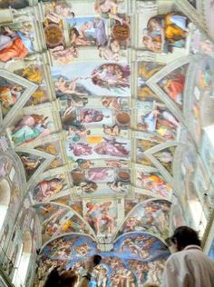 Rome, Italy.  The Sistine Chapel.