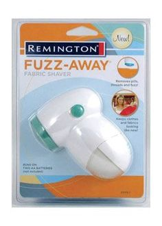 Remington Battery Operated Fabric Shaver - Use remingtons fuzz away fabric shaver to remove threads, pills and fuzz in 1 easy step. it keeps clothes and fabrics looking like new. the fuzz away is perfect travel size that can easily fit in luggage and... http://collection.li/posts/Remington-Battery-Operated-Fabric-Shaver-B0034BV6KA