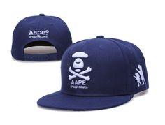 A BATHING APE Snapback Hats Aape Hats New Era Caps Blue 022 A Bathing Ape ee0cb50e648e