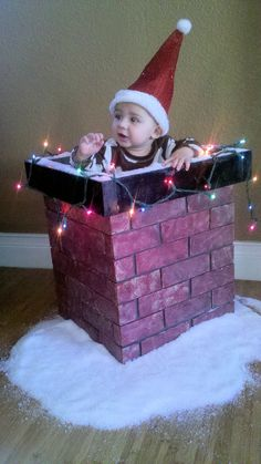 Christmas photo prop Chimney - Great for ALL ages with adjustable inside. $100.00, via Etsy.