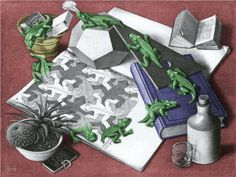 Reptiles Colour - Artist: M.C. Escher Completion Date: 1943 Style: Surrealism Genre: animal painting