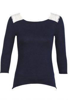 Lace Shoulder Long-Sleeve - fr