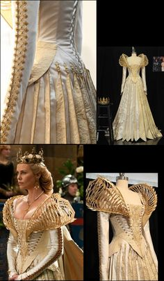 Charlize Theron's gown as Queen Ravenna in Snow White and the Huntsman, 2012 ~ by Colleen Atwood https://threadbythread.wordpress.com/2012/11/29/i-love-you-i-do-i-do-i-do-i-do/
